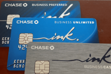 The three Chase Ink Cards